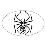 tribal spider design.png Sticker (Oval 10 pk)