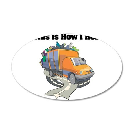 3-garbage truck.png 20x12 Oval Wall Decal