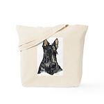 Scottish Terrier Dog Portrait  Tote Bag