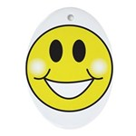 smiley-face.png Ornament (Oval)