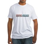 text_retrorama.png Fitted T-Shirt