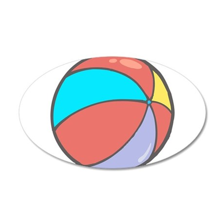 beach ball belly.png 35x21 Oval Wall Decal