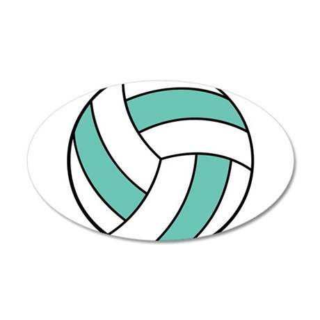 volleyball belly.png 20x12 Oval Wall Decal