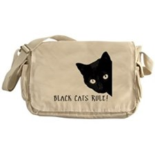 BLACK CATS RULE Messenger Bag