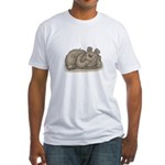 funny little bear copy.jpg Fitted T-Shirt