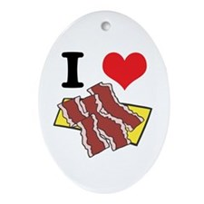 bacon.jpg Ornament (Oval)