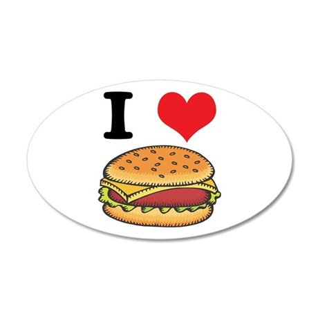 cheeseburgers.jpg 20x12 Oval Wall Decal