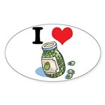 green olives.jpg Sticker (Oval 50 pk)