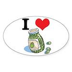 green olives.jpg Sticker (Oval 10 pk)