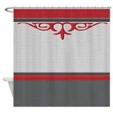 Red And Gray Shower Curtains Red And Gray Fabric Shower Curtain Liner