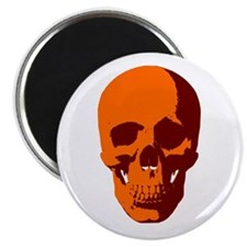 "Orange Skull 2.25"" Magnet (100 pack)"