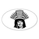 indian head copy.jpg Sticker (Oval 10 pk)