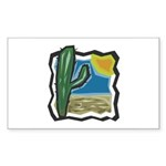 cactus scene copy.jpg Sticker (Rectangle 10 pk)