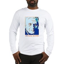 Papa Ratzi New Pope Benedict Blue Long Sleeve T-Sh