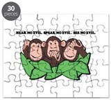 THREE MONKEYS NO EVIL.psd Puzzle