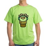 cute little girl snow cone.png Green T-Shirt