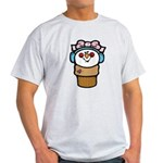 cute little girl snow cone.png Light T-Shirt