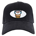 cute little girl snow cone.png Black Cap