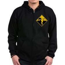 Earthquake Warning Zip Hoodie