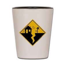 Earthquake Warning Shot Glass