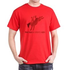 The Buck Stops Here Black T-Shirt