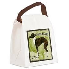 Italian Greyhound Stamp Canvas Lunch Bag