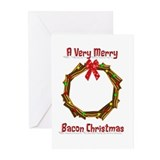 Christmas Bacon Wreath Greeting Cards (Pk of 10)