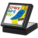 Crazy Bird Lady Keepsake Box