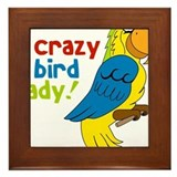 Crazy Bird Lady Framed Tile