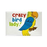Crazy Bird Lady Rectangle Magnet