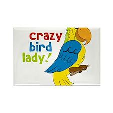 Crazy Bird Lady Rectangle Magnet