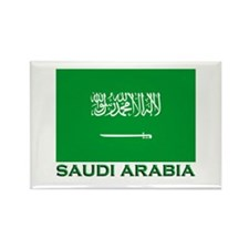 Saudi Arabia Flag Merchandise Rectangle Magnet