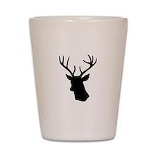 White stag deer head Shot Glass