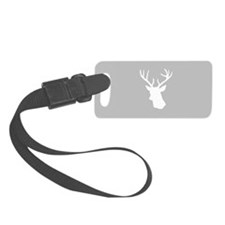 White stag deer head Luggage Tag