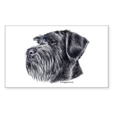 Giant Schnauzer Rectangle Decal