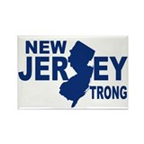 New jersey Strong Rectangle Magnet