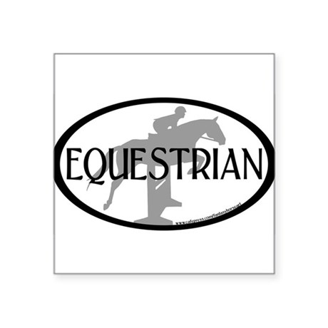 Hunter Jumper O/F (Equestrian text) Oval Sticker