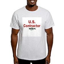 U.S. Contractor/ Ash Grey T-Shirt