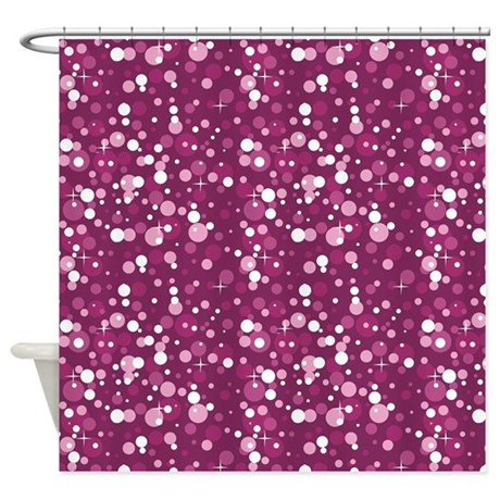 pink sparkle print shower curtain by printedlittletreasures