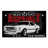 Kicking Asphalt - Mustang Stickers