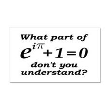 Don't Understand Euler's Equation Car Magnet 20 x