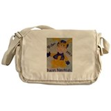 HAPPY HANUKKAH RABBI RABBIT Messenger Bag