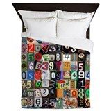 Places of Pi Queen Duvet