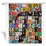 Places of Pi Shower Curtain