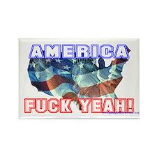 America Fuck Yeah! Rectangle Magnet