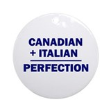 Italian + Canadian Ornament (Round)