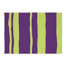 Purple and Lime 5'x7'Area Rug