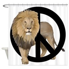 peace Lion Shower Curtain