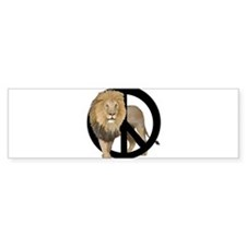 peace Lion Bumper Sticker