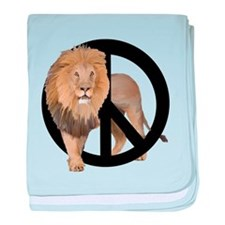 peace Lion baby blanket